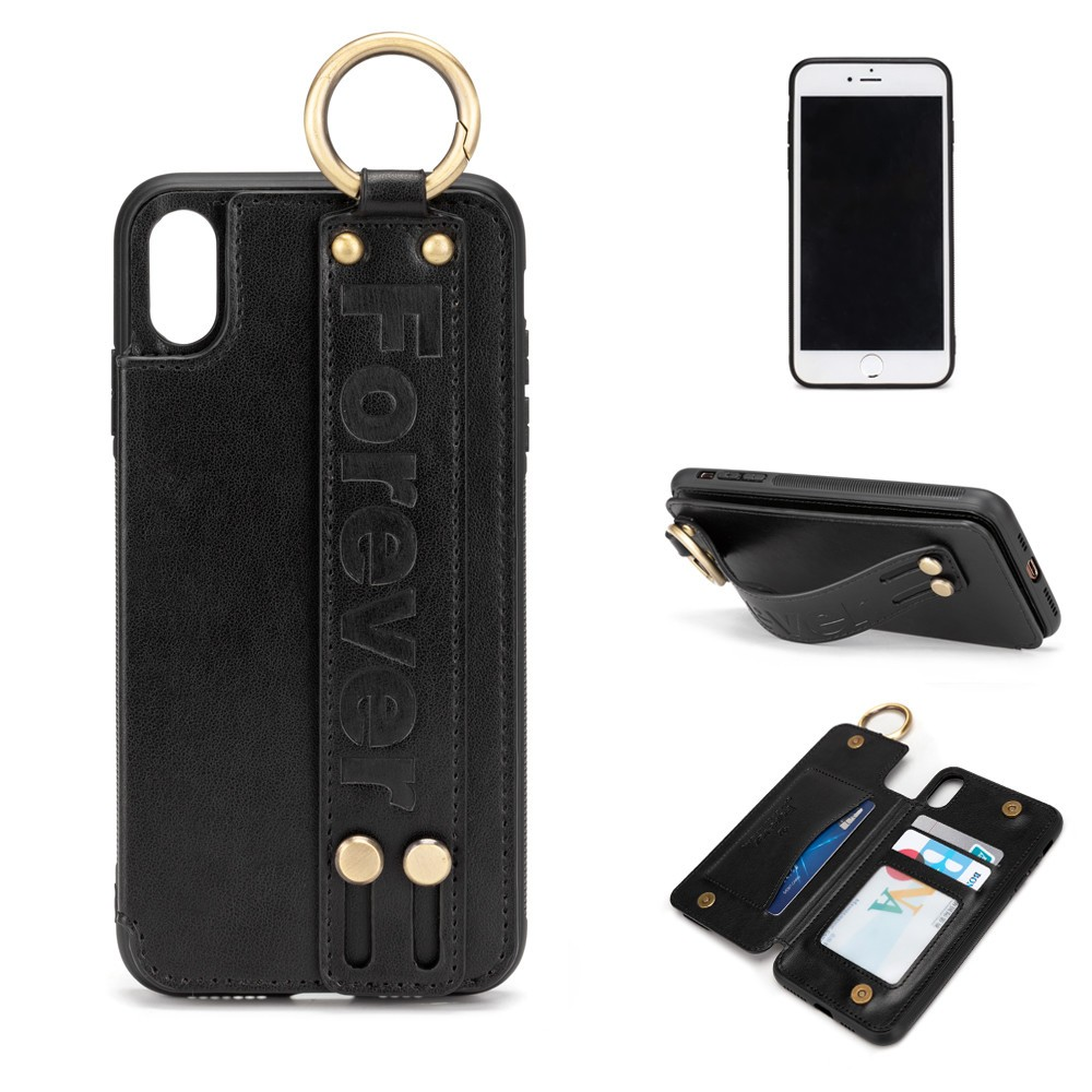Leather Phone Wallet Case With Card Holder Double Magnetic Clasp And Durable Shockproof Phone Cover