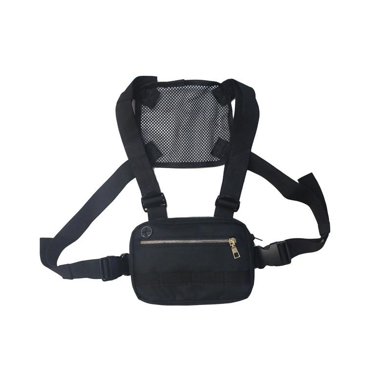 Adjustable Tactical Chest Bags Fanny Pack Hip Hop Streetwear Waist Bag Men Women Hunting Tactical Chest Bag