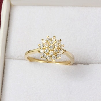 14K Yellow Gold 1.5 Carats Diamond Ring for Women Luxury Engagement Bizuteria Anillos Gemstone 14K Gold and Diamond Wedding Ring Fashion & Accessories Fine Jewellery Jewellery Pure gold