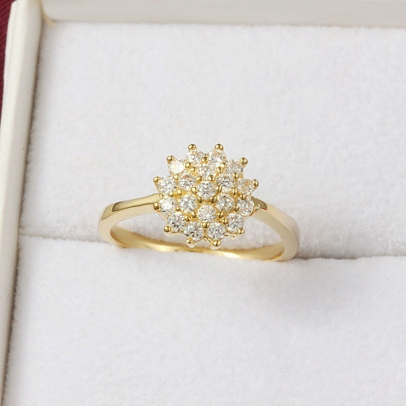 14K Yellow Gold 1.5 Carats Diamond Ring for Women Luxury Engagement Bizuteria Anillos Gemstone 14K Gold and Diamond Wedding Ring