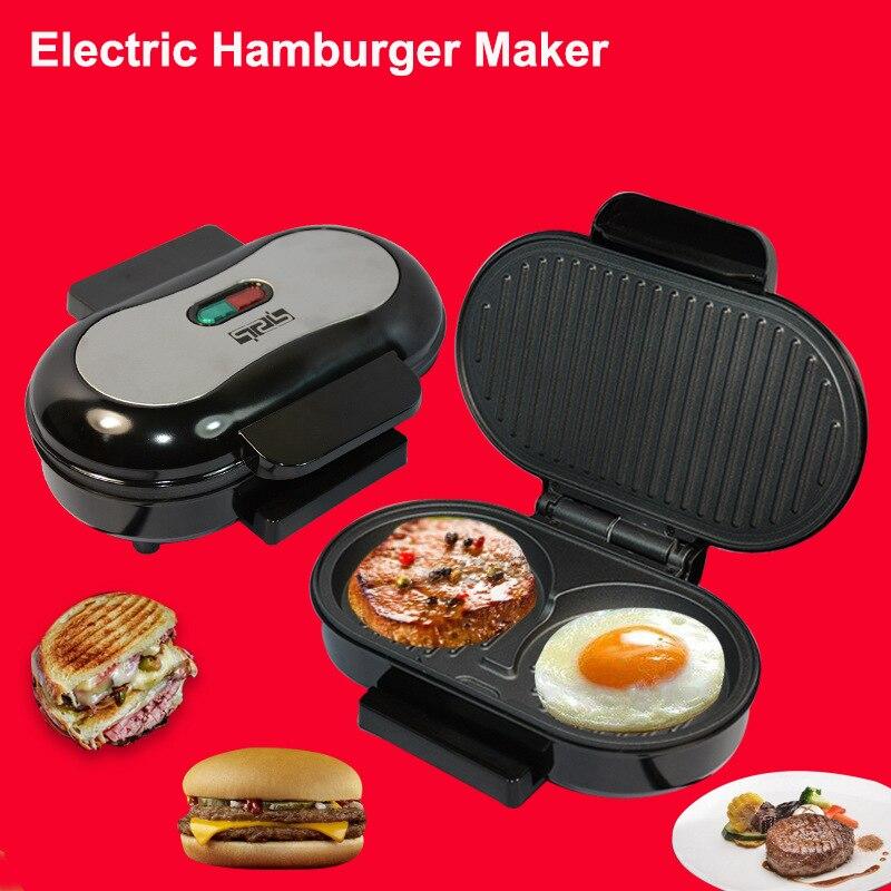 Fabricante de Cozinha Café da Manhã Faz a Máquina Casa Elétrica Hambúrguer Sanwich Mini Bife Que 220 v Plug ue Cozinha Cozinhar Aparelho