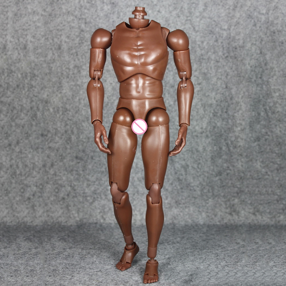 "US MX02-A 1//6 Male Figure 12/"" Body With Caucasian Skin Nude Narrow Shoulders Toy"