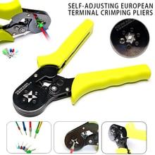 Crimping Pliers Quadrilateral 0.25-6mm AWG 24-10 Self-adjusting European Terminal Crimping Pliers Crimp Hand Tools J8
