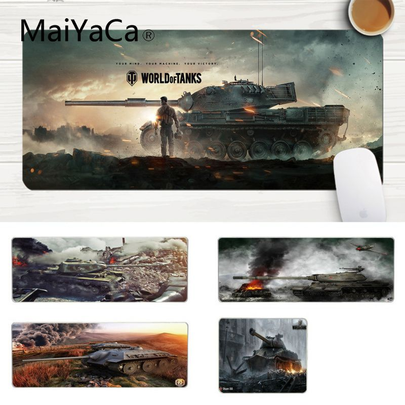 MaiYaCa Your Own Mats Gaming World of Tank Unique Desktop Pad Game Mousepad Laptop Gaming Lockedge Mice Mousepad