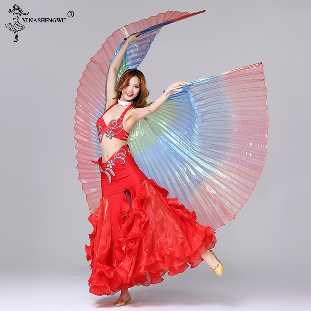 Adult Belly Dance Multicolored Wings New 360 Degree Belly Dance Isis Wings Indian Dance Wings Dance Accessories Without Sticks