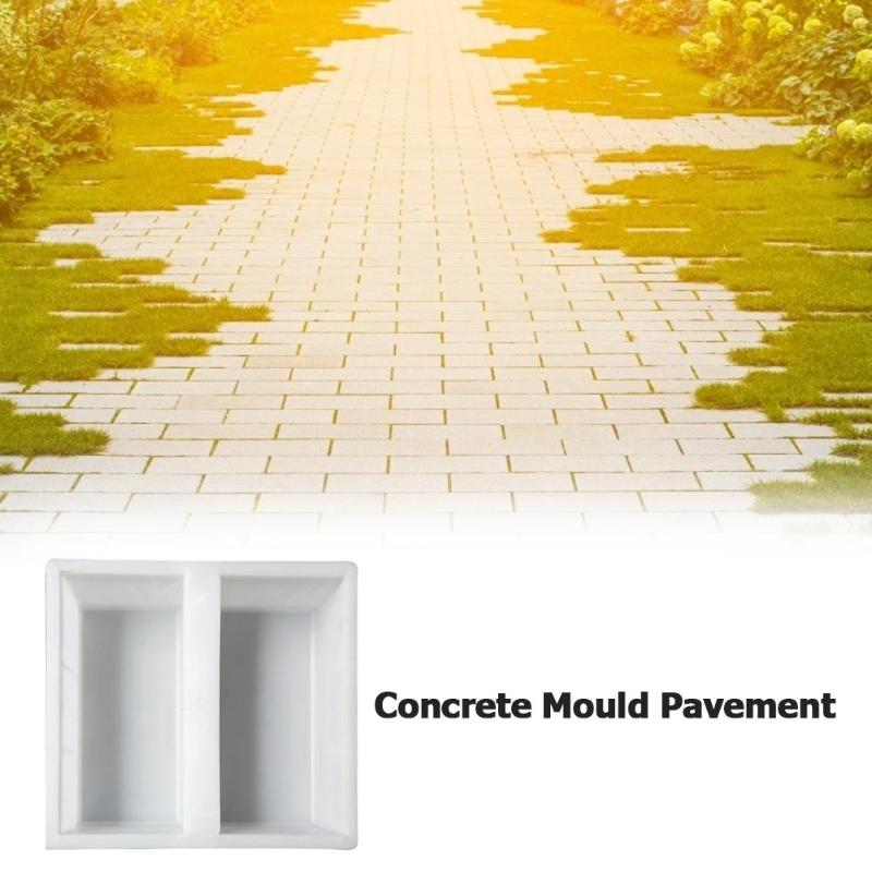 cheapest Garden Walk Pavement Mold DIY Manually Paving Cement Brick Concrete Plastic Molds Irregular Reusable Garden Path Maker Mold