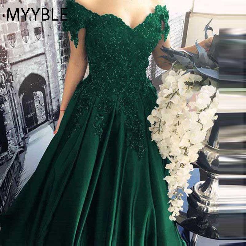Myyble Long Floor Length Formal Dress Robe De Soiree Elegant Green