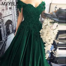 MYYBLE długie piętro długość formalna sukienka De Soiree eleganckie zielone satynowe suknie wieczorowe suknia koronkowa Sweetheart suknie wieczorowe tanie tanio Kochanie COTTON Poliester Octan Krótki Długość podłogi Celebrity sukienki LF-009 Cap sleeve Satyna Aplikacje Frezowanie