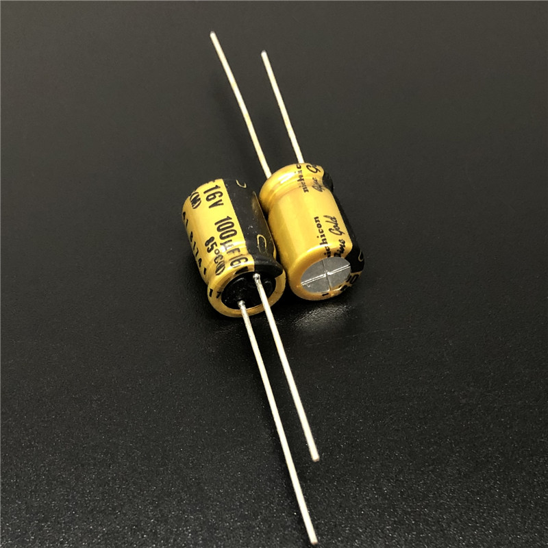 10Pcs/100Pcs 100uF 16V NICHICON FG Series (fine Gold) 8x11.5mm 16V100uF High Grade HIFI Audio Capacitor