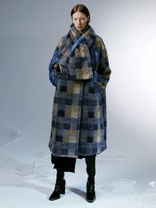 Image 1 - IRINACH112 2020 Winter New Collection oversize plaid berber fleece wool coat