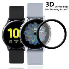 20d cobertura completa protetores de tela filme para samsung galaxy assista ativo 2 40mm 44mm resistente a riscos de vidro temperado protetor
