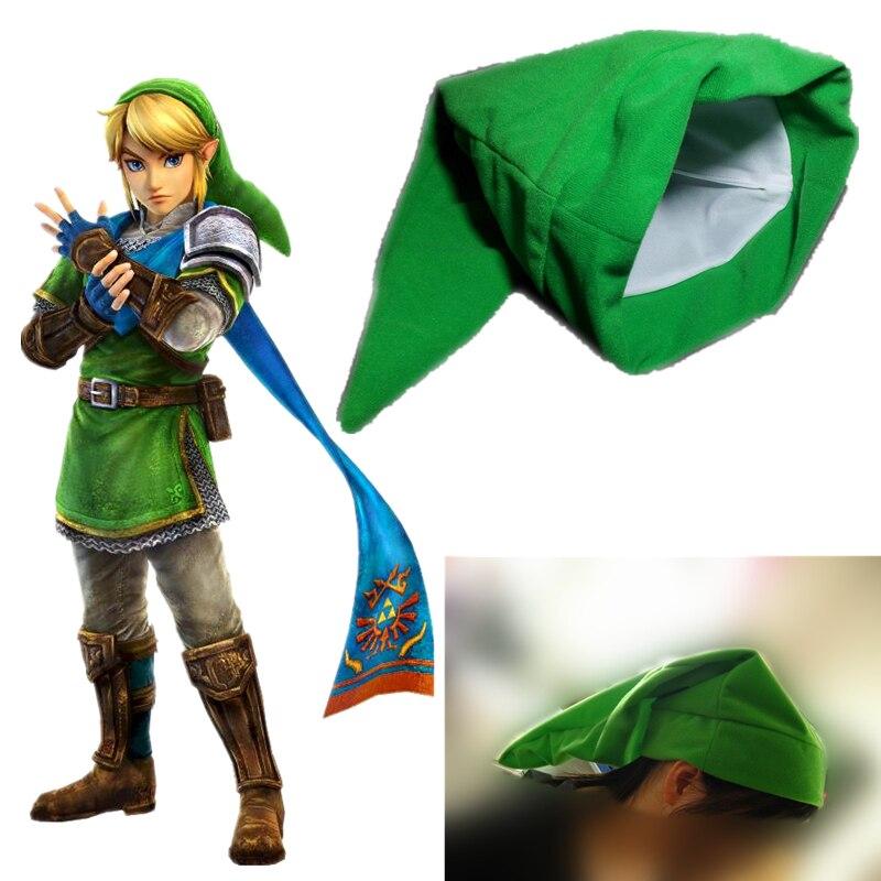 Game The Legend Of Zelda Link Hat Cosplay Green Plush Cap Halloween Party
