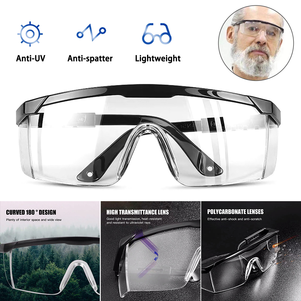 Anti-epidemic Supplies Anti-virus Safety Glasses Protective Glasses Safety Goggles Anti-fog Protective Glasses Splash-proof