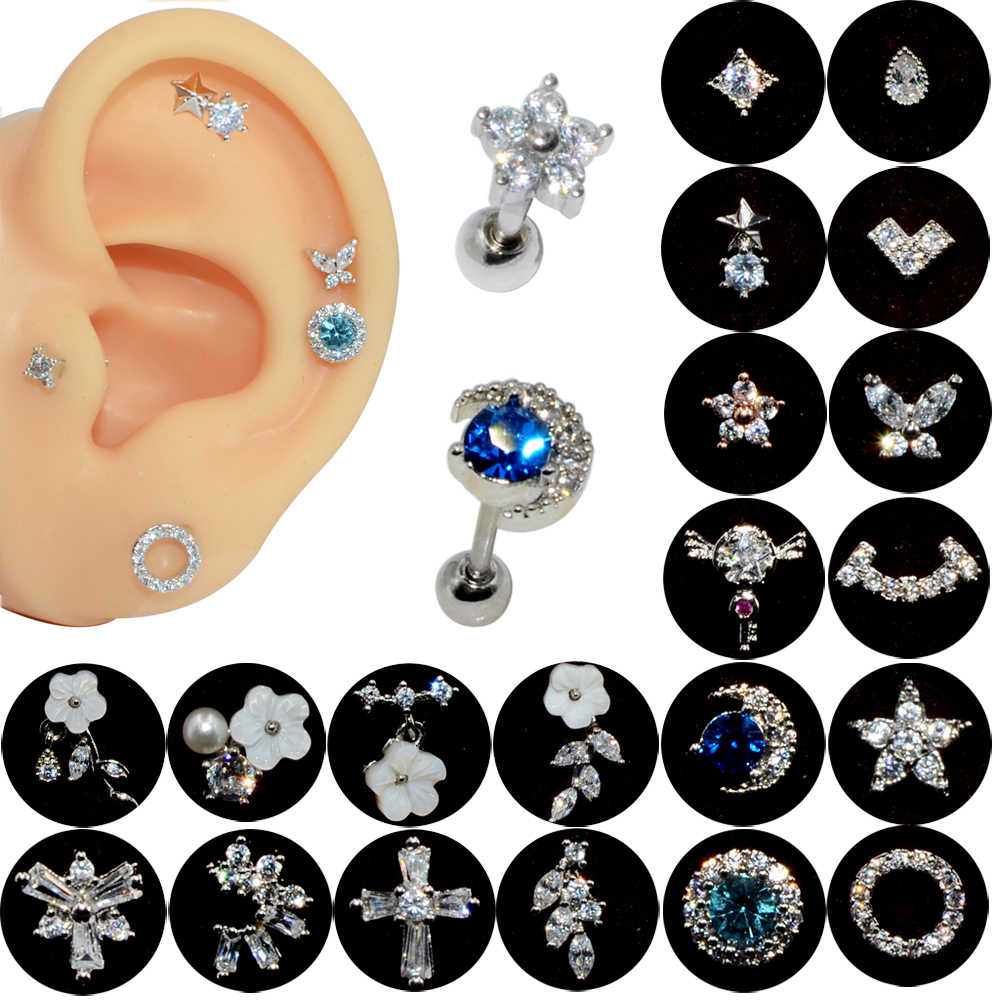Surgical Steel Helix Piercing Cartilage Earring Stud Conch Earring Tragus Jewelry