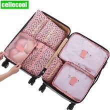 high quality 7-piece Travel Organizer Storage Bag Set Clothes Bags Pouch Suitcase Closet for