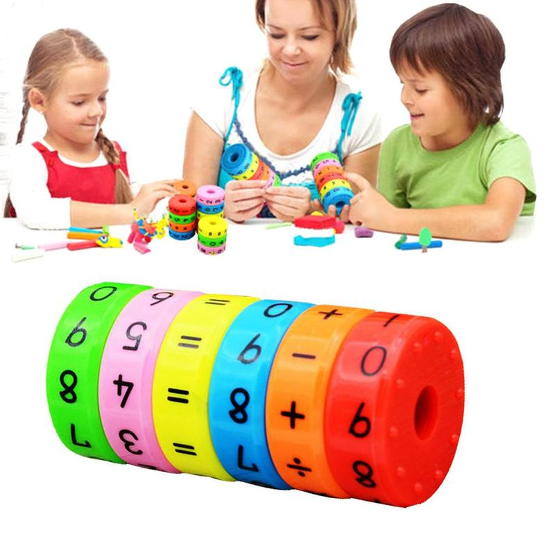 6pcs Magnetic Montessori Arithmetic Toy Preschool Educational Plastic Toys For Children Math Numbers DIY Assembling Puzzles Toy