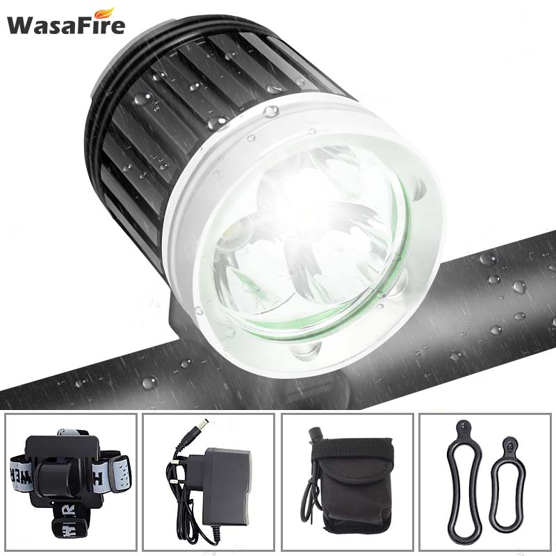 WasaFire 3*XML T6 Bicycle Light 4000 Lumen 3 Modes LED Bike Front Light MTB Bike Headlight Headlamp +18650 Battery Pack+Charger