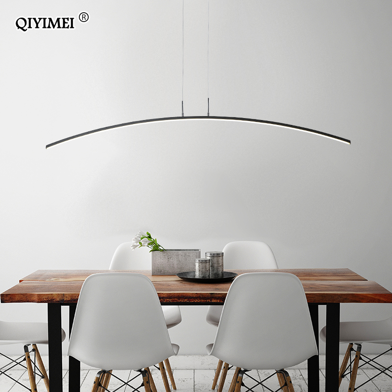 Remote control Modern LED Pendant Lights For study Kitchen Dining Living Room Cord Hanging Lustre Indoor Lamps Input AC90-260V 5
