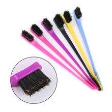 3pc beleza dupla borda lateral pente de cabelo controle escova de cabelo para o estilo do cabelo salão de beleza profissional acessórios escova de cabelo cor aleatória