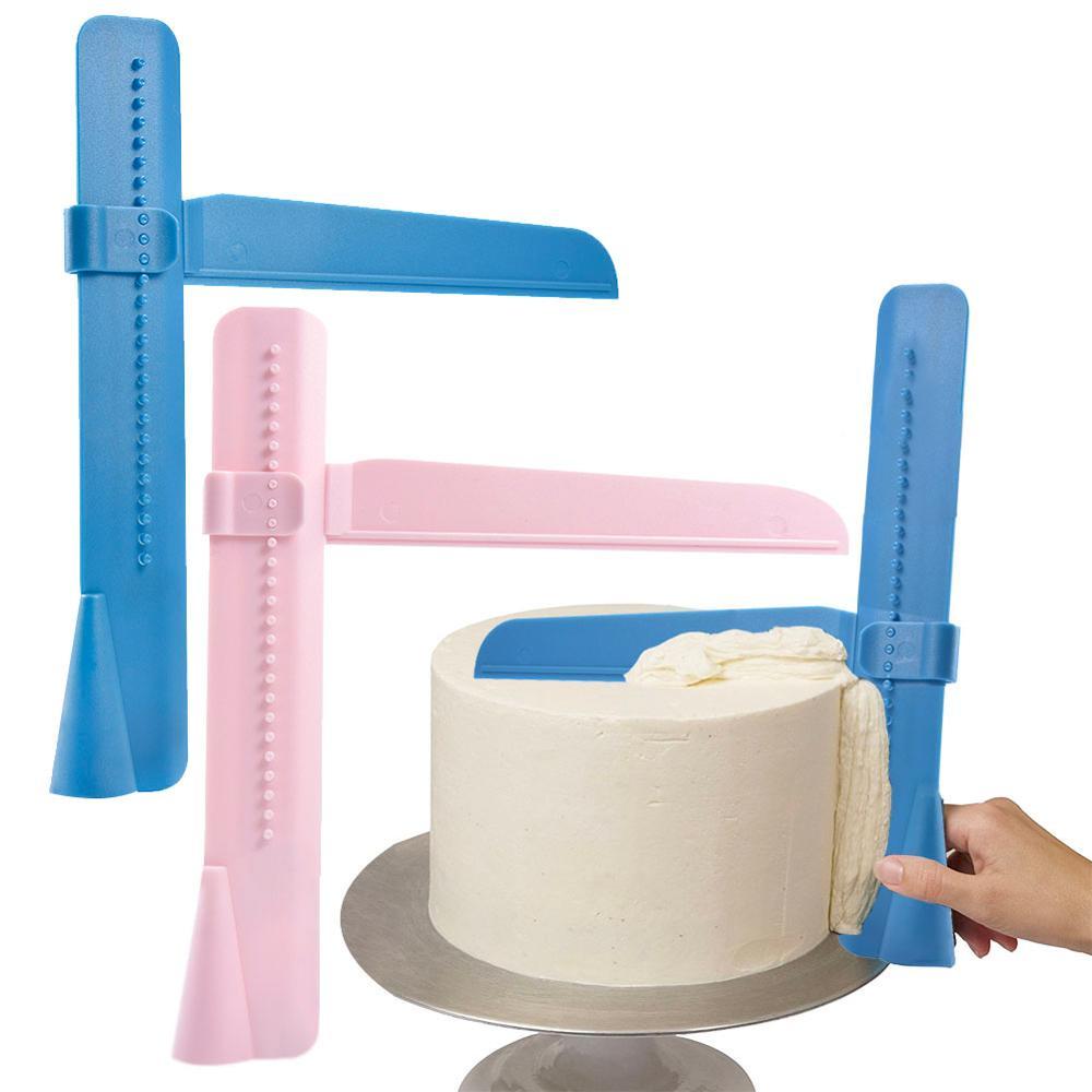 Cake Scraper Smoother Adjustable Fondant Spatulas Edge Cream Decorating Kitchen Tools
