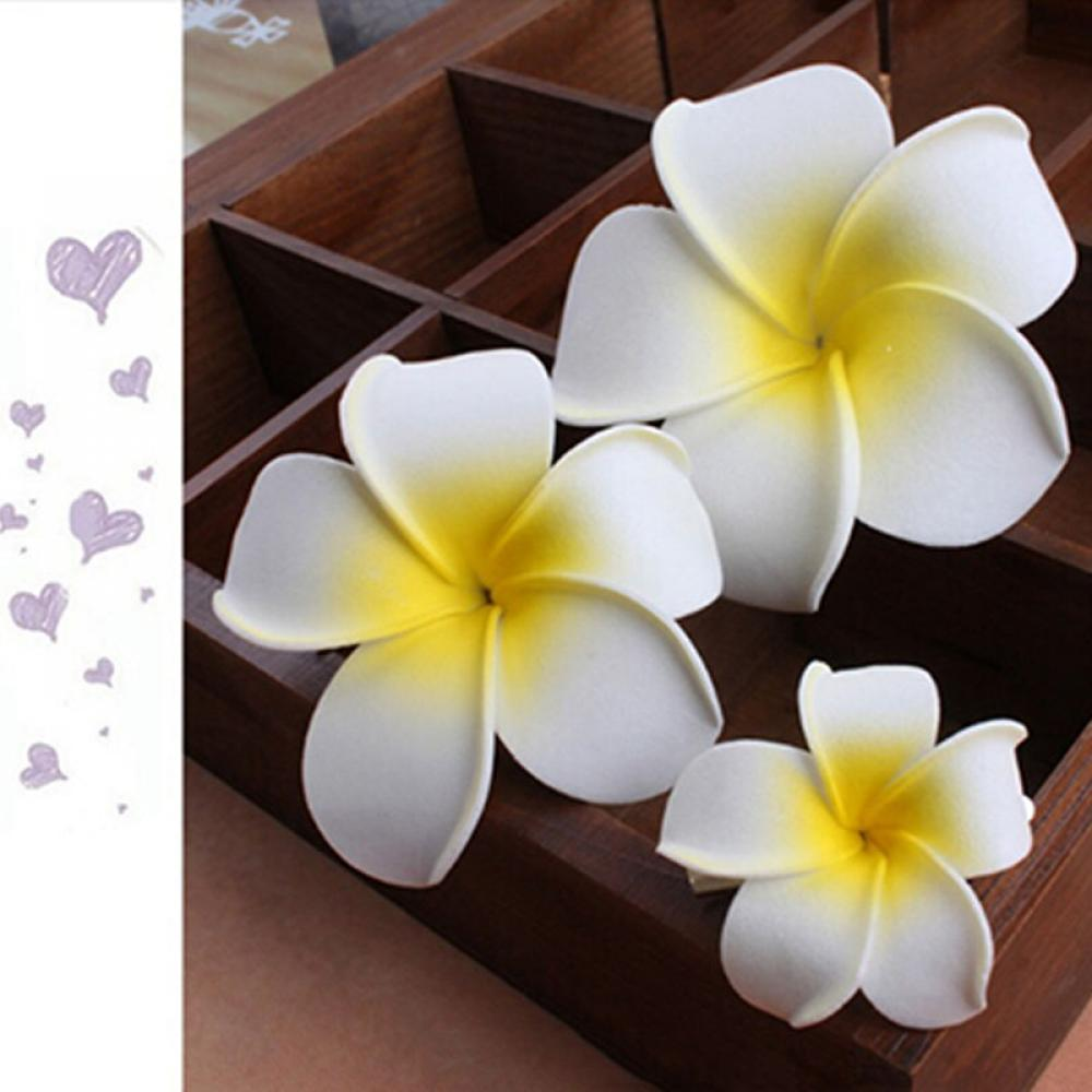 2pcs Romantic Plumeria Flower Hairpin Bridal Hair Pins Bohemia Seaside Beach Style