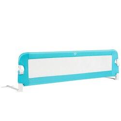 Protector de raíl para cama de seguridad transpirable de 59 para niños pequeños, columpio azul