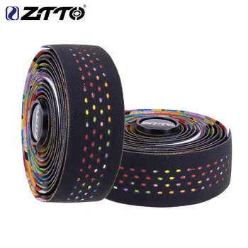 ZTTO Road Bike Bar Tape Bicycle Handle Belt Colour Damping Anti-Vibration sweat-absorbent Tape Wrap With 2 Plug Fixed Gear Belt