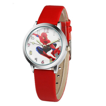 Watch 3D cartoon spider man quartz children watch leisure boy clock kids watches boys  watches  kids watches  children watch relogio new cartoon leather quartz watch children watch orologi princess elsa anna watches boy girl gift clock relojes zegarki