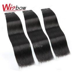 Wigbow-mèches de cheveux indiens-OneCut, mèches de cheveux humains, 100% Remy, lisses, noir naturel, 8-24 pouces, P, 1/3/4 pièces, livraison gratuite
