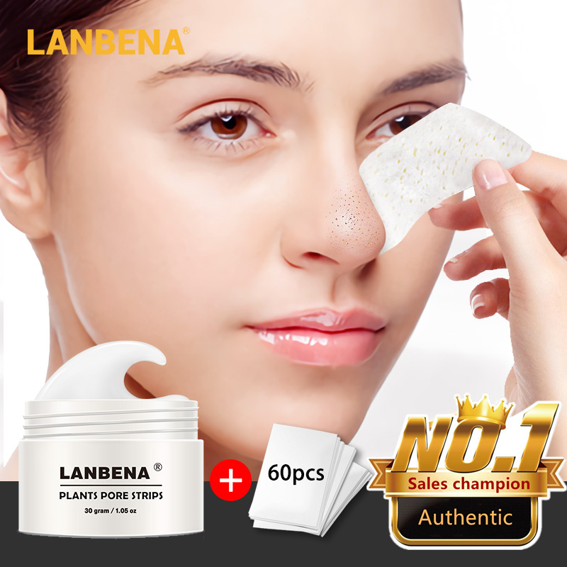 New Style LANBENA Blackhead Remover Nose Mask Pore Strip Black Mask Peeling Acne Treatment Black Deep Cleansing Skin Care Beauty