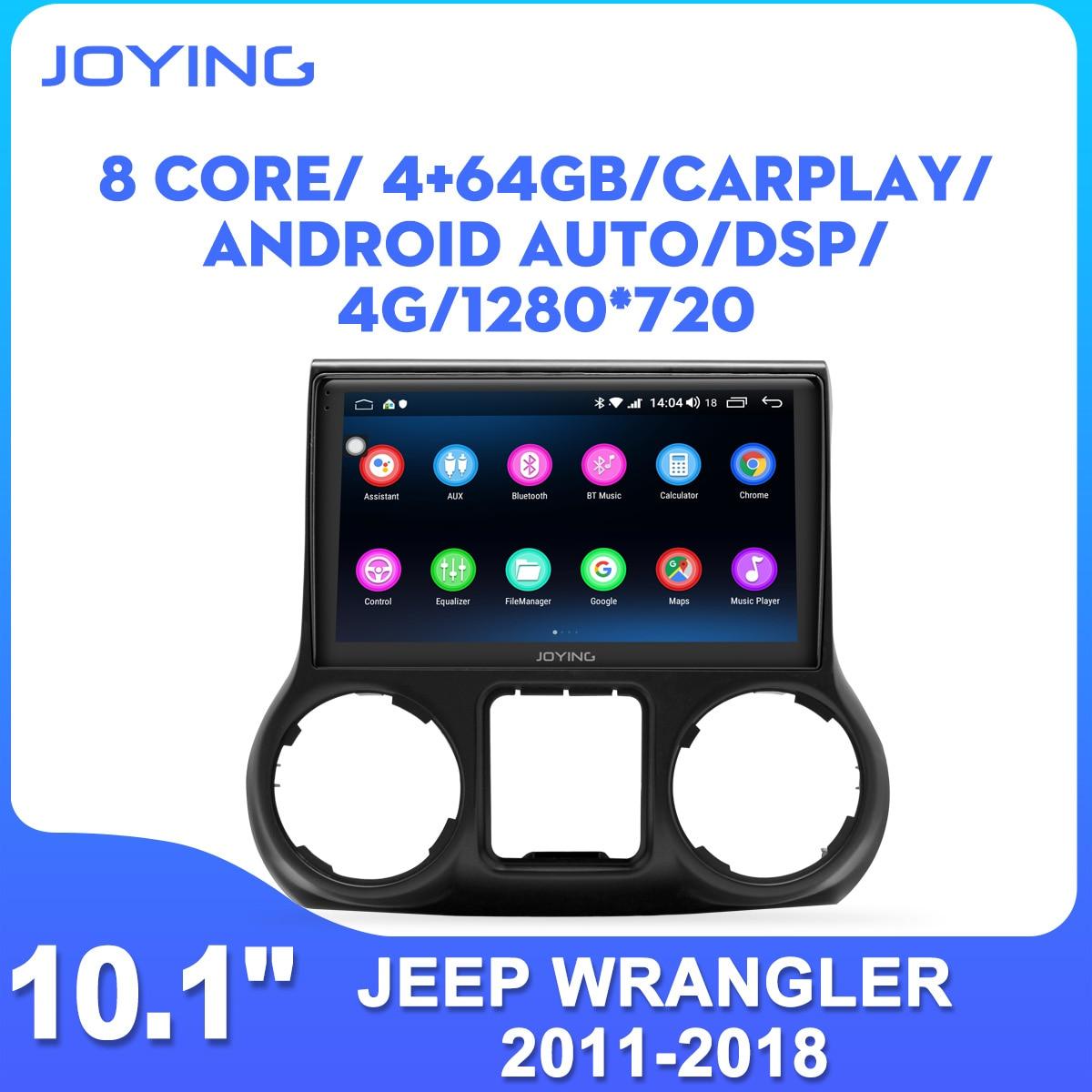 Radość 10 cal jednostka główna z systemem Android 8.1 radio samochodowe stereo audio GPS nawigacji dla Jeep Wrangler 2011-2018 wsparcie szybkie uruchamianie