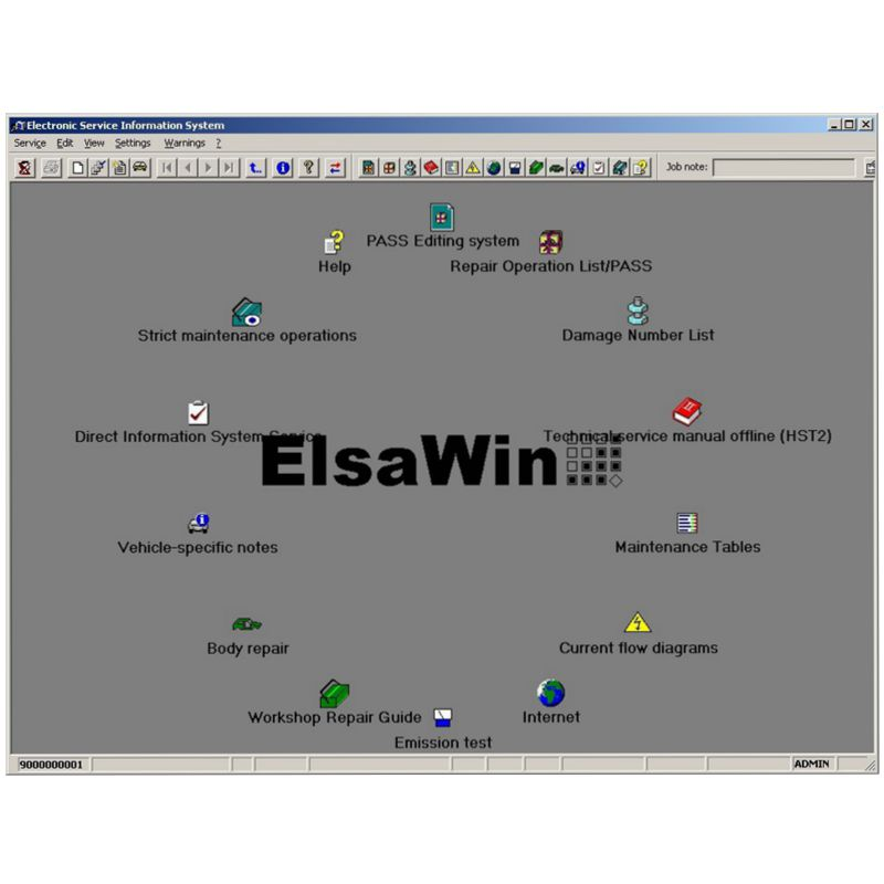 2020 Hot Auto Repair Software ElsaWin 6 0 work for V-W 5 3 For Audi Auto Repair Software Elsa Win 6 0 in 80gb hdd Free Shipping