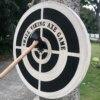 Outdoor Amusement Game Tools Axe Throwing Game Set Wooden Target Practice Game with Hemp Rope for Indoor Sport Accessories