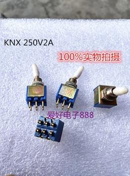 Original nuevo 100% KNX-2X2 interruptor de botón pequeño interruptor basculante 250V2A 6pin 2 DE