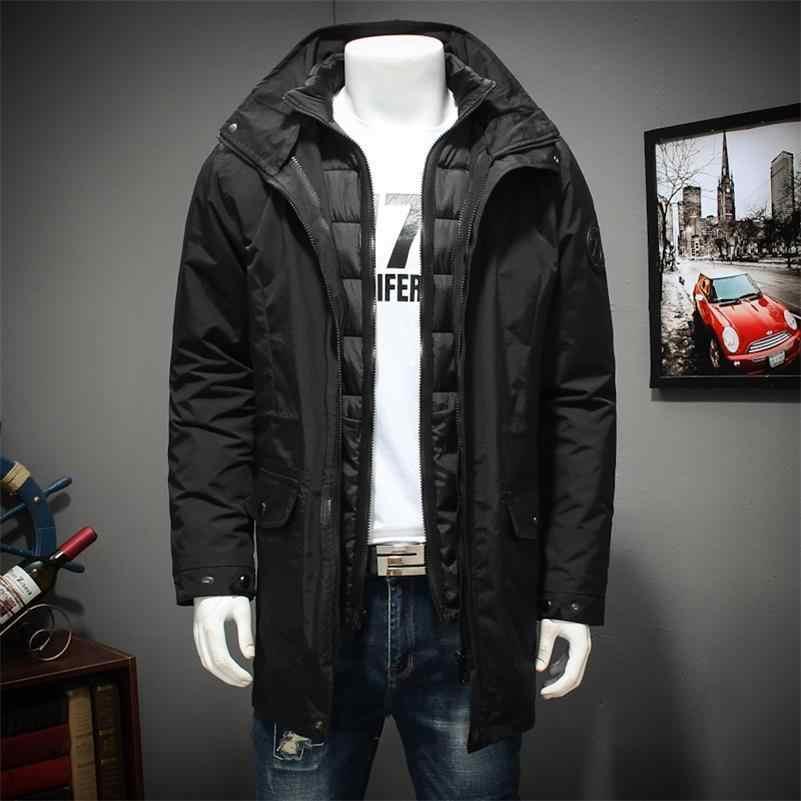 뉴 플러스 사이즈 8xl 7xl 6xl 폴리 에스테르 겨울 자켓 및 코트 두꺼운 따뜻한 패션 캐주얼 잘 생긴 청년 파카 맞는 눈 감기