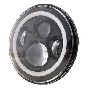 Image 3 - สำหรับLada Niva 4X4 7 Ledไฟหน้าH4 High Beamรอบรถวิ่งไฟไฟหน้าสำหรับjeep Wrangler JK Land Roverปกป้อง