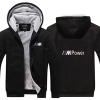 New Men Motocross Hoodies Winter Thicken Zipper Coat for bmw Sweatshirts Outdoor sports leisure cycling jackets
