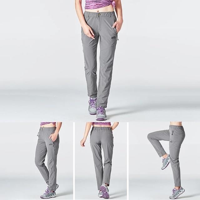 Походные женские штаны лёгкие и непромокаемые с карманами 6