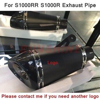 Реальное изображение 51 мм/60 мм глушитель выхлопной трубы для мотоцикла DB Killer Pitbike Модифицированная труба черная Ссылка для S1000RR S1000R|Выхлопные трубы и системы|   | АлиЭкспресс