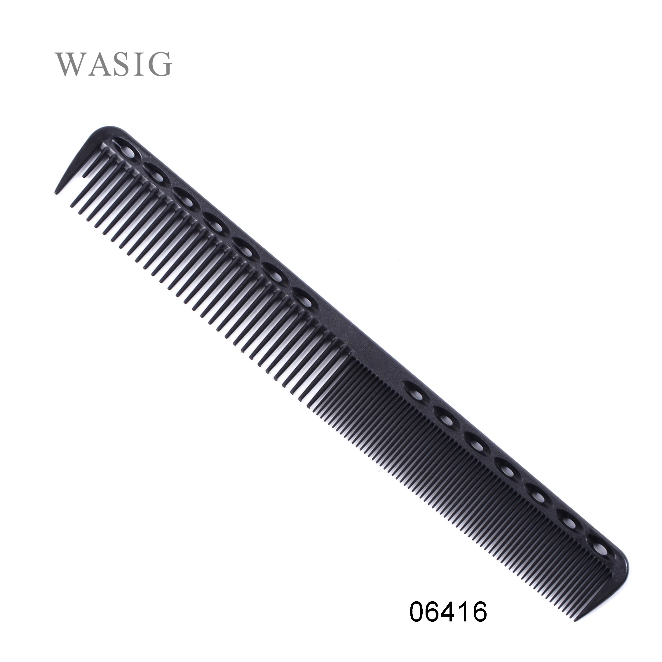 1 Pc Professional Hair Cricket Comb Heat Resistant Medium Cutting Carbon Comb Salon Antistatic Barber Styling Brush Tool(China)