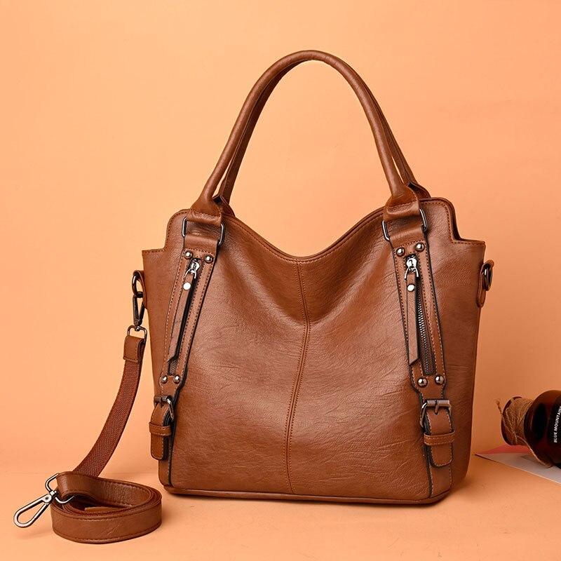 Bag Women Genuine Leather Large 2020 Black Hobos Female ZDG 328 Sale Shoulder Bag Female Crossbody Bags
