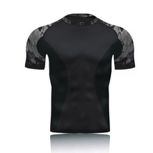 Military Army Camo Tactical Compression Shirt Short Sleeve Combat T Shirts Men Quick Dry Base Layer Outdoor Hunting Hiking Shirt