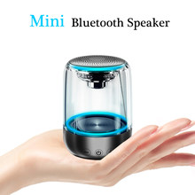 Best Mini speakers portable Bluetooth Wireless Speaker Portable Outdoor LED Light Stereo Music Surround Support TF AUX USB C7(China)
