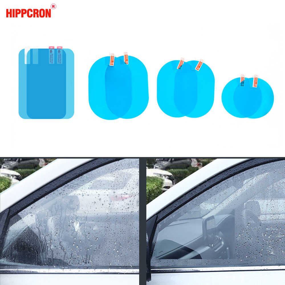 Car Rearview Mirror Protective Anti Fog Car Mirror Window Clear Film Film Waterproof  Car Sticker 2 Pcs/Set