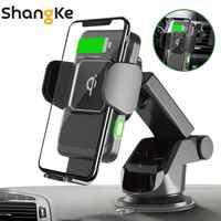 Drahtlose Auto Ladegerät 10W Auto Clamp 2-in-1 Qi Schnelle Ladegerät Auto Halterung Air Vent Dashboard telefon Halter für iPhone X 8 Samsung S9