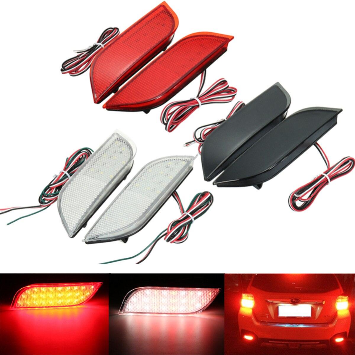 2x Motorbike Red Reflector Rear Tail Brake Turn Signal Light Marker Lamp Plastic