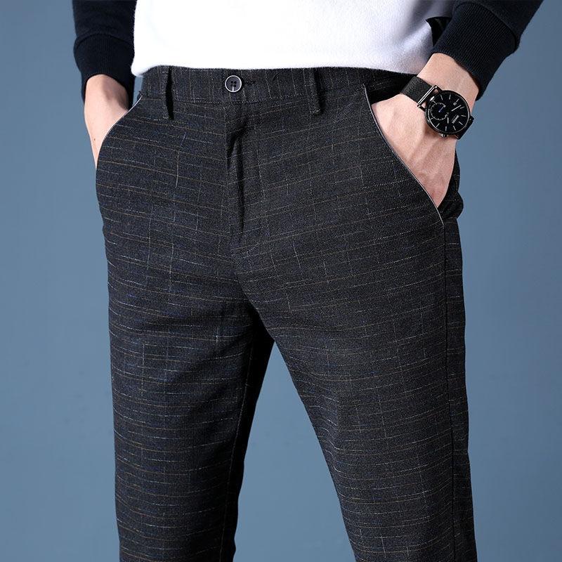 2020 New High Quality Pants Men Fashion Casual Pants Men Straight Business Suit Trousers brand Mens Pants Size 38