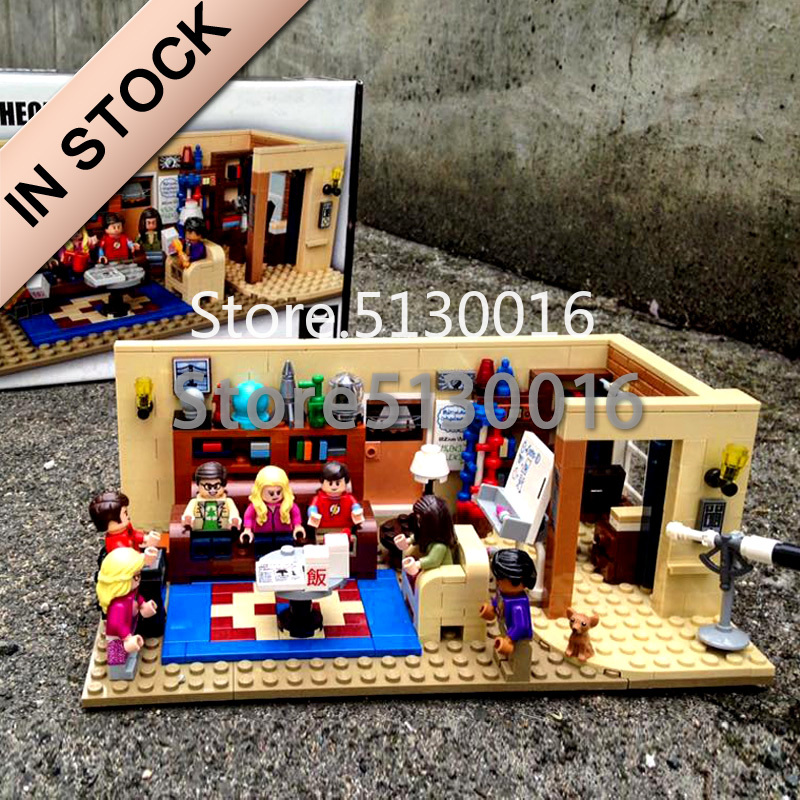 16024 In Stock The Big Bang Theory 534Pcs and Central Perk 1228Pcs Ideas Model Building Blocks Bricks Toys 21302 21319