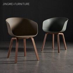 Europa północna krzesło do jadalni z litego drewna projektant krzesło do gospodarstwa domowego oparcie dla dorosłych oryginalność czas wolny negocjuj krzesło z tworzywa sztucznego na