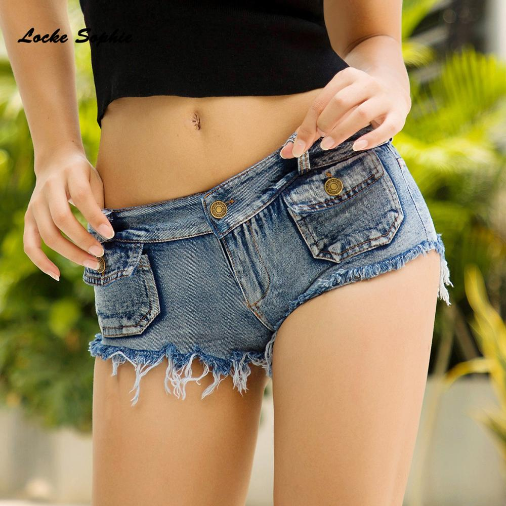 Low Waist Women Jeans Denim Shorts 2019 Summer Fashion Denim Cotton Small Pocket Ladies Skinny Sexy Nightclub Super Short Jeans